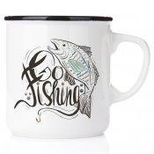go fishing happy mug emaljmugg fiskemugg