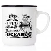 my home is in the ocean båtmugg happy mug print emaljmugg enamel ocean