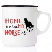 stallmugg home is where my horse is hästsko all you need is love and fjording häst present till en ridtjej rider stall stallmugg