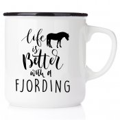 stallmugg life is better with fjording home is where my horse is hästsko all you need is love and fjording häst present till en