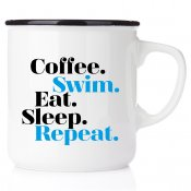 Coffee swim Eat Sleep Repeat present till simmare triathlon sport