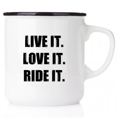 Live it. Love it. Ride it. motocrossmugg mc mugg metall emaljmugg motocross enamel mx happy mug happy mugg metallmugg