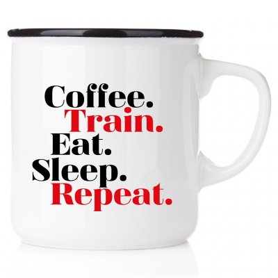 Coffee Train Eat Sleep Repeat